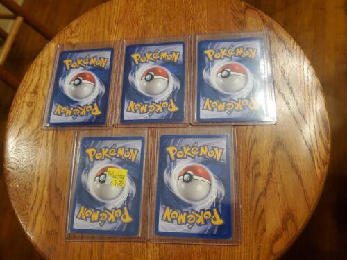 Pokemon Team Rocket 5 Holos And Set Cards Description  - $150.00