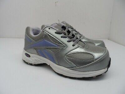 Reebok Work Women's Ateron Oxford Composite Athletic Work Shoe RB448 Grey 5M