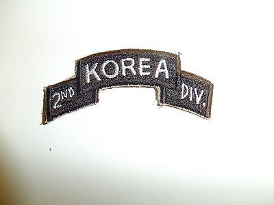 b5932 Korean War US Army Tab 2nd Div Infantry Division Korea A7B11