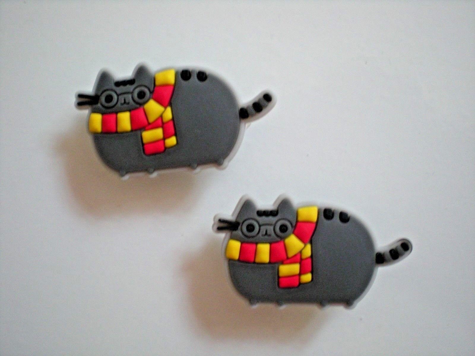 da53888fd Details about Jibbitz Croc Clog Shoe Plug Button Charm WristBand  Accessories 2 Kitty Cat