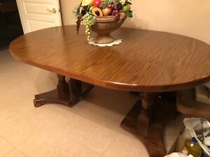 Dining Table with 9 chairs - priced to sell!