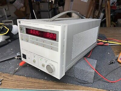 Tested 0-60v 0-10a Agilent Hp 6038a Dc Power Supply Adjustable Lab