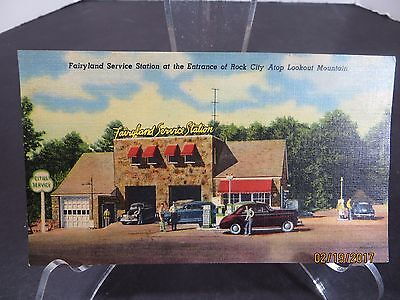 Vintage Fairyland Service Station Rock City Advertising Card Pettway Oil