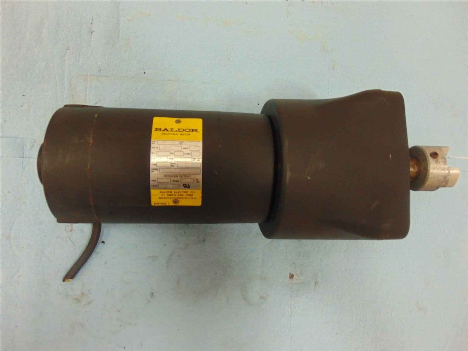 Baldor GPP 7452 Motor 1/4 HP 2.4A 90DC w/ Reducer 105RPM 70in.lbs Ratio 15:1