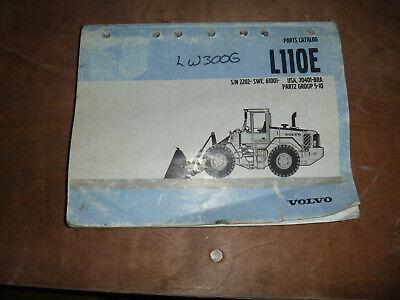 Volvo L110e Wheel Loader Parts Catalog Manual 61001- Usa