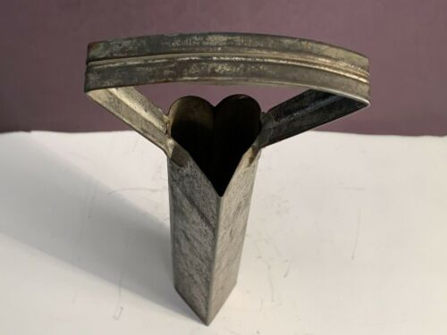 """Antique Vintage Tin Heart Shaped Tall Cookie Cutter Biscuit Mold Unique 10 ¾"""""""