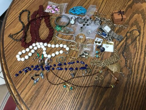 Lot of costume jewelry various mix most useable some need repair selling as is