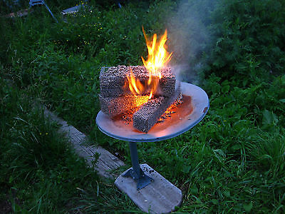 Repose Stainless steel Open Face Wood Pellet  Fire Logs ,   Nesting Deluxe Set