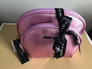 Tahari Set of 2 Makeup Bags new
