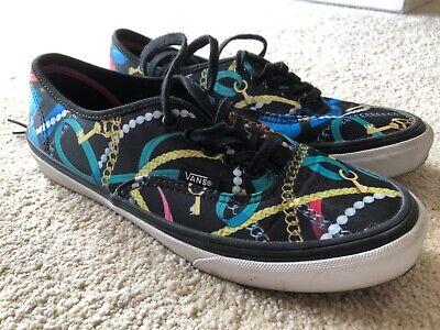 VANS Chain Ribbon Bow Pearl PrintCanvas Shoes - UK Women's Size 5 comprar usado  Enviando para Brazil
