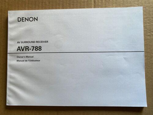 DENON AVR-788 AV Surround Receiver Owner