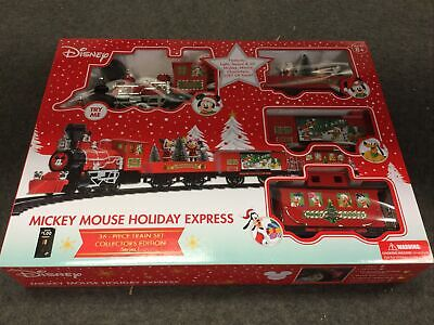 Disney Mickey Mouse Holiday Express 36 Piece Collectors Edition Train Set~ New