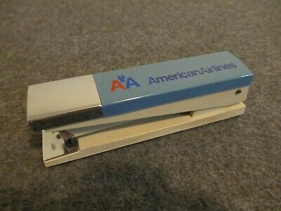 Vintage Boston 20 American Airlines Advertising Business Stapler Usa - Excellent