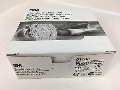 3m Clean Sanding Disc 236u 01703 5 In P500 50 Count Box