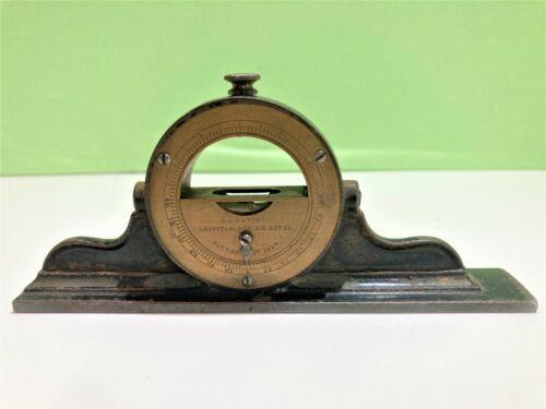Rare Antique L. L. Davis Inclinator, Spirit Level, Brass/Steel Machinist Level,