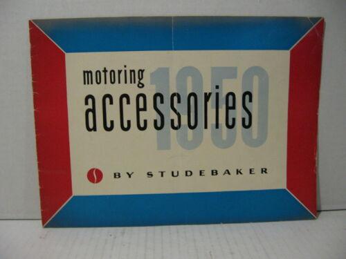 1950 Studebaker Motoring Accessories Car Dealer Brochure Sales Catalog Original