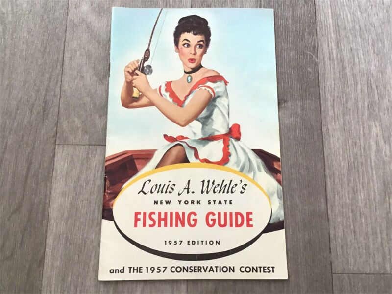 Genesee Beer 1957 Louis A Wehle's New York State Fishing Guide