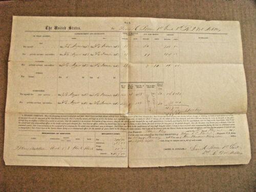 NORTH CAROLINA CIVIL WAR FORT TOTTEN 1864 INVOICE