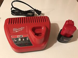 Milwaukee M12 Charger & 2 Batteries