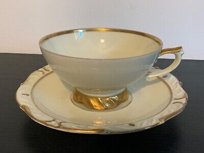 Kahla Cup & Saucer Cream And Gold