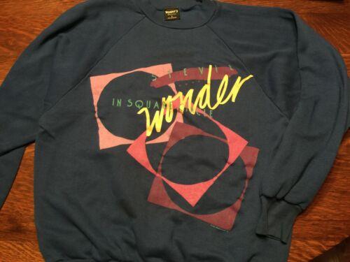 Stevie Wonder In Square Circle 1986 blue sweatshirt