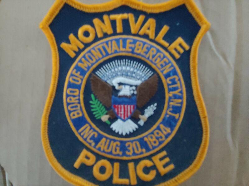 MONTVALE NEW JERSEY NJ Sheriff Police Patch BERGEN CO VINTAGE OLD MESH ~