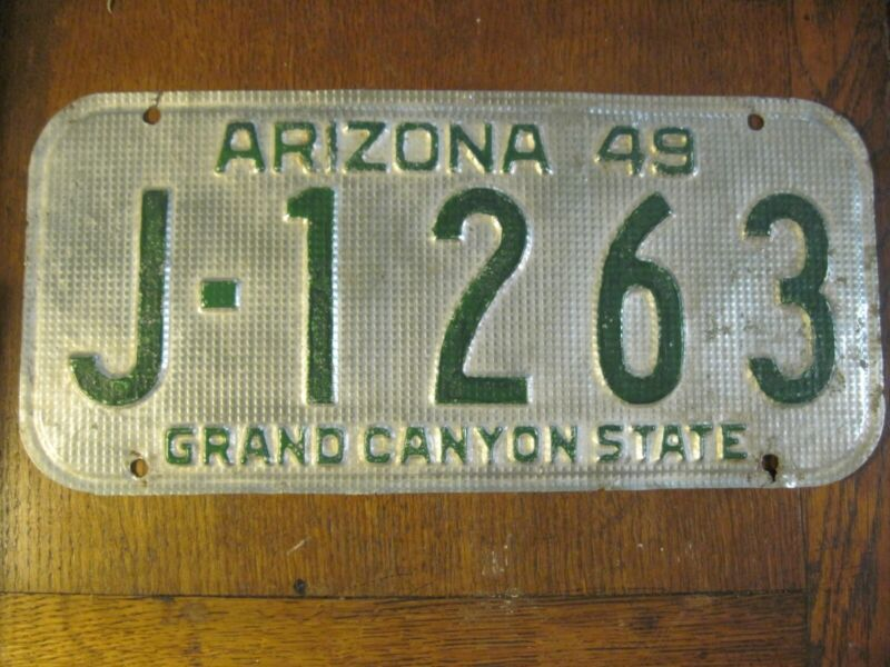 1949 Arizona Yavapi Co. 4 digit waffle pattern license plate