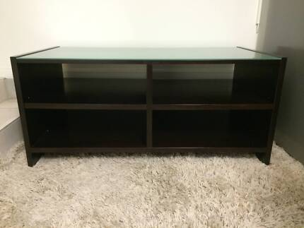 "NICK SCALI ""MATISSE"" OPEN SHELF TV UNIT WITH FROSTED GLASS TOP Barden Ridge Sutherland Area Preview"
