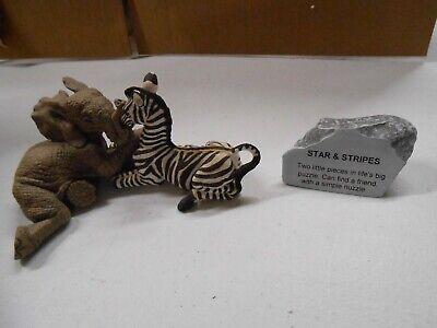 The HERD Marty Sculptures Elephant Figurine #3401 Stars & Stripes Martha Carey!