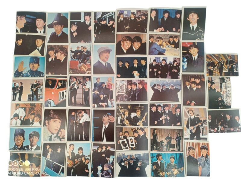 44 BEATLES DIARY 1964 Trading Cards Blue A series Topps TCG 1 Very Good Conditio