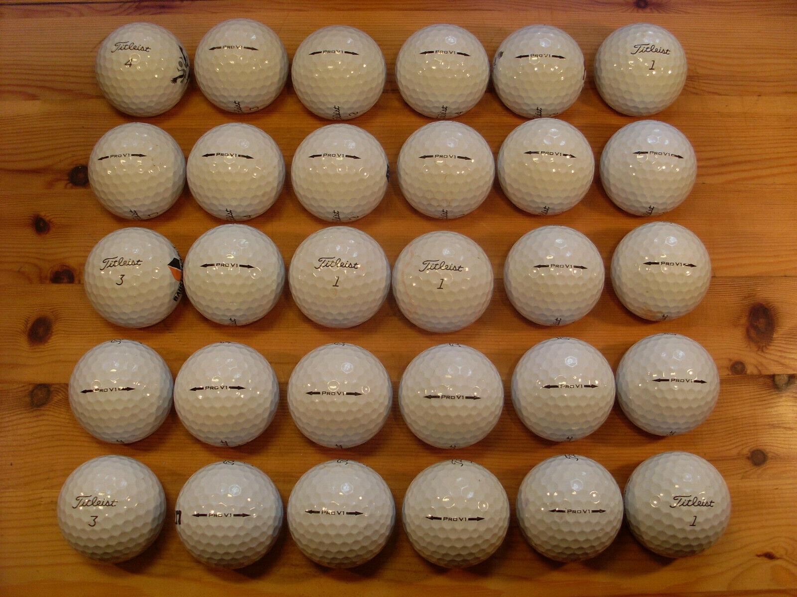 30 TITLEIST PRO V1 gebrauchte Golfbälle Lakeballs