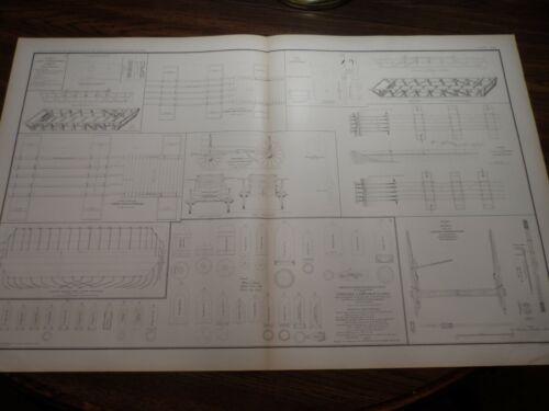 Antique Lithograph Print Civil War Boats Bridges Chess Wagons Rifled Projectiles
