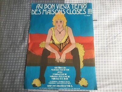 """Affiche  Film """" AU BON VIEUX TEMPS DES MAISONS CLOSES  """" 1975 - 40x60"""