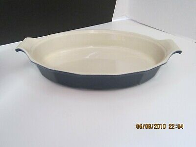 EMILE HENRY OVAL CASSEROLE/BAKING DISH OVENWARE BLUE WILLIAMS SONOMA 01.77