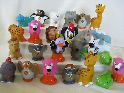 25 Fisher Price Animal Alphabet Letter Zoo Animals, Little People toys, Retired