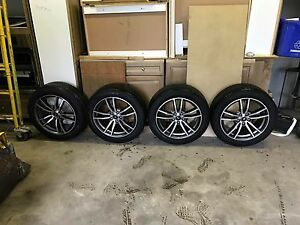 Like new 2016 mustang gt stock 18 wheels and tires