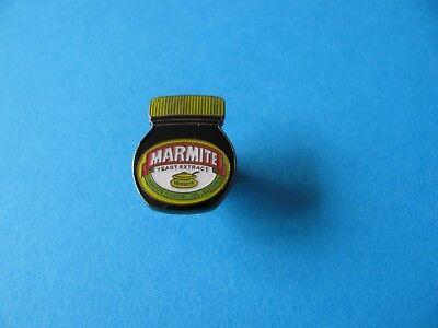 Marmite Advertising Jar pin badge. Love it or Hate it !