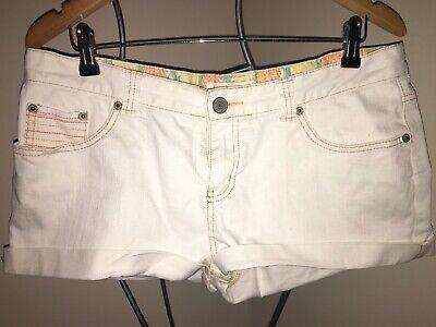 O'NEILL white Denim Shorts 14 Surf Style