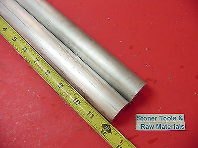 2 Pieces 1-14 Aluminum 6061 Round Rod 12 Long T6511 1.25 Od Solid Bar Stock