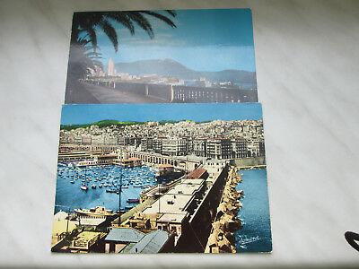 AK Algerien 2 Stück 1977 gelaufen mit Sonderstempel DDR lt. Foto