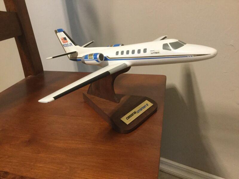Vintage Pacific Miniatures PM Cessna Citation II Desk Display Wood Model N200JR