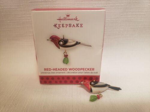 Hallmark 2013 Beauty Of The Birds Red Headed Woodpecker Miniature Ornament