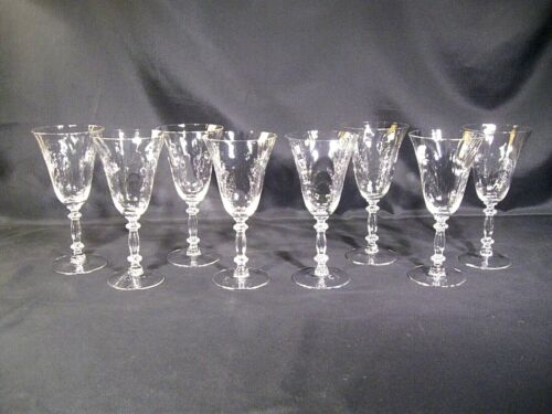 Cambridge Caprice Water Goblets Set of 8