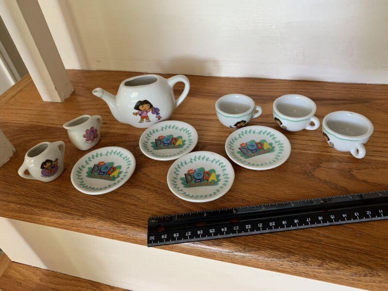 Dora the Explorer Tea Set China 10 Pieces