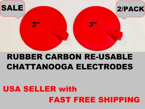 """2PS CARBON RUBBER MULTI-USE ELECTRODE for CHATTANOOGA VECTRA GENISYS SERIES, 3"""""""