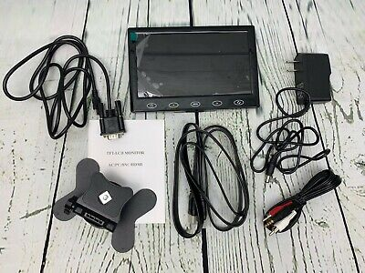 7in TFT LCD CCTV Monitor HD  Screen 1024 600 Display HDMI VGA AV Input for sale  Shipping to India