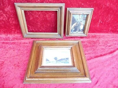 3 Old Picture Frame __ Wood __