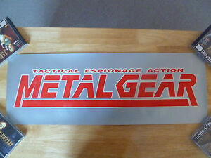 ULTRA-RARE-METAL-GEAR-1-BANNER-OFFICIAL-GAME-PROMO-POSTER