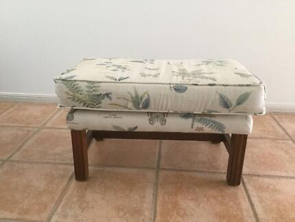 Cushioned Top Timber Foot Stool