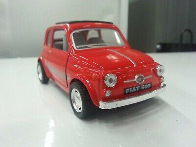 Fiat 500 Rot Kinsmart Spielzeug Modell 1/24 Skala-Modelle Metall Auto Geschenk, gebraucht gebraucht kaufen  Versand nach Germany